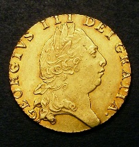 London Coins : A126 : Lot 1069 : Guinea 1794 S.3729 EF
