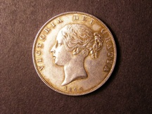 London Coins : A126 : Lot 1182 : Halfcrown 1842 ESC 675 EF the reverse with some toning