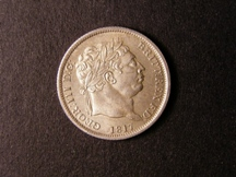 London Coins : A126 : Lot 1395 : Shilling 1817 RRITT error, also unbarred H in HONI, unlisted by ESC GEF