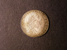 London Coins : A126 : Lot 1447 : Sixpence 1697 Third Bust Large Crowns Later Harp ESC 1566 Lustrous UNC the reverse with colourful to...