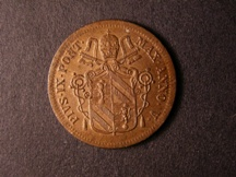London Coins : A126 : Lot 532 : Italy Papal States Baiocco 1851 VR KM#1345 UNC or near so with traces of lustre