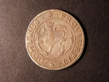 London Coins : A126 : Lot 544 : Norway 2 Marks 1665 crowned lion in circle PROVIDEBIT DOMINUS, 3 intertwined with crowned F II M...