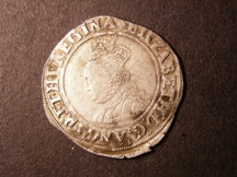 London Coins : A126 : Lot 850 : Shilling Elizabeth I Second Issue S.2555 ET instead of Z mintmark Martlet nearer VF than Fine with a...