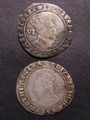 London Coins : A129 : Lot 1117 : Sixpences (2) James I 1605 mintmark Rose Fine, Elizabeth I 1579 Fifth Issue mintmark Greek Cross...