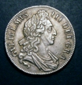 London Coins : A129 : Lot 1149 : Crown 1696 OCTAVO ESC 89 EF and with an attractive even tone