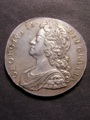 London Coins : A129 : Lot 1161 : Crown 1732 Roses and Plumes ESC 117 EF with a few light contact marks on the obverse