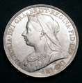 London Coins : A129 : Lot 1213 : Crown 1896 LX ESC 311 Davies 520 dies 2D Lustrous UNC/AU with a few minor contact marks