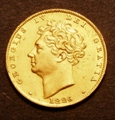 London Coins : A129 : Lot 1375 : Half Sovereign 1826 Marsh 407 VF with surface marks and a few light scratches