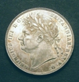 London Coins : A129 : Lot 1443 : Halfcrown 1820 George IV ESC 628 EF/GEF with a few contact marks in the fields