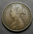 London Coins : A129 : Lot 1552 : Halfpenny 1874 Freeman 312 dies 7+J Fine, Rare