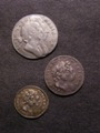 London Coins : A129 : Lot 1572 : Maundy a 3-part Set 1694 comprising Threepence Fine, Twopence GVF and Penny GVF