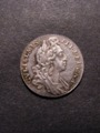 London Coins : A129 : Lot 1827 : Sixpence 1696 First Bust Early Harp Large Crowns ESC 1533 GEF and nicely toned