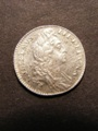 London Coins : A129 : Lot 1829 : Sixpence 1696 First Bust ESC 1533 Lustrous UNC with a few light haymarks on the obverse