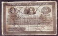 London Coins : A129 : Lot 605 : Ireland Provincial Bank £3 dated 1872, 2 half notes cut & re-joined, serial number...