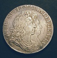 London Coins : A130 : Lot 1039 : Crown 1692 ESC 83 GVF/NEF with some haymarks