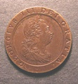 London Coins : A130 : Lot 1252 : Guinea 1798 Pattern in darker Bronzed Copper by Kuchler, Plain edge with Reverse Inverted, s...