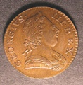 London Coins : A130 : Lot 1387 : Halfpenny 1774 Peck 907 UNC with traces of lustre