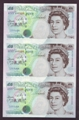 London Coins : A130 : Lot 143 : Five pounds Kentfield C108 issued 1993, an uncut trio serial AC01, ACO2 & AC03 000355&#4...