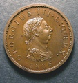 London Coins : A130 : Lot 1478 : Penny 1806 Bronzed Proof Peck 1324 KP30 toned nFDC