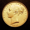 London Coins : A130 : Lot 1881 : Sovereign 1852 Marsh 35 EF with some contact marks