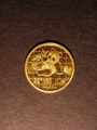 London Coins : A130 : Lot 483 : China 10 Yuan 1989 Gold Panda KM#223 EF/GEF with some scuffs