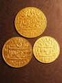 London Coins : A130 : Lot 514 : Indian Gold Mohurs Bengal Presidency jewellers copies (3) total weight 21.9 grammes gold content unk...
