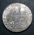 London Coins : A130 : Lot 956 : Crown 1644 Oxford struck in pewter in very good style GEF