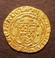 London Coins : A130 : Lot 999 : Quarter Noble Edward III Treaty Period 1361-1369 London Mint Lis in centre Annulet before Edward S.1...