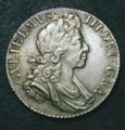 London Coins : A131 : Lot 1715 : Shilling 1700 Fifth Bust ESC 1121 GEF and nicely toned