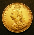 London Coins : A131 : Lot 1953 : Sovereign 1887S Jubilee Head with small, spread initials on truncation, hooked J in JEB,...