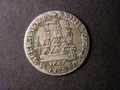 London Coins : A131 : Lot 517 : Danish West Indies 24 Skilling 1767 Altona with Wide, High Crown KM#10 Fine
