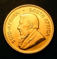 London Coins : A131 : Lot 579 : South Africa Krugerrand 1974 KM#73 UNC with a few light contact marks
