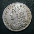London Coins : A132 : Lot 1013 : Halfcrown 1686 ESC 494 Good Fine