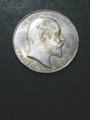 London Coins : A132 : Lot 1061 : Halfcrown 1906 ESC 751 EF/AU with some light hairline scratches and toning on the obverse