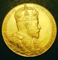 London Coins : A133 : Lot 1169 : Coronation Medal 1902, gold, by G.W.de Saulles, Official Royal Mint issue, 56mm.,...