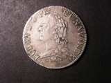 London Coins : A133 : Lot 1317 : France Ecu 1772 L KM#551.9 Good Fine with some adjustment lines on the obverse