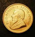London Coins : A133 : Lot 1465 : South Africa Krugerrand 1973 KM#73 UNC with a few minor contact marks