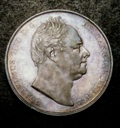 London Coins : A133 : Lot 252 : Crown 1831 Proof, Plain Edge, ww on truncation, Silver, Coin Alignment, ESC 271&...