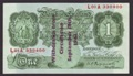 London Coins : A133 : Lot 3210 : One Pound Peppiatt overprint. B239A. L01A 330400. Last series, the finest condition known in the...