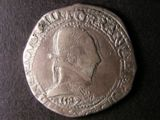 London Coins : A134 : Lot 1198 : France Ecu Henri III 1582 M (Toulouse) Obverse Laureate and cuirassed  bust right HENRICVS. III.D.G....