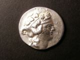 London Coins : A134 : Lot 1722 : Greece, Thasos, Dionysos on silver Tetradrachm, after 148BC. S.1759. small cut to obvers...