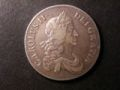 London Coins : A134 : Lot 1814 : Crown 1667 ESC 35A with diagonally spaced stops on the edge Good Fine