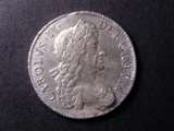 London Coins : A134 : Lot 1817 : Crown 1679 Fourth Bust ESC 57 EF or near so with some haymarking