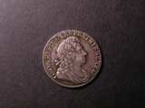 London Coins : A134 : Lot 2273 : Shilling 1721 1 over 0 ESC 1172 a very clear overstrike EF toned