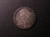 London Coins : A134 : Lot 2291 : Shilling 1787 No Hearts ESC 1216 EF Toned