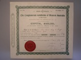London Coins : A134 : Lot 3 : Australia, Conglomerate Goldfields of western Australia Ltd., share certificate, 1902...