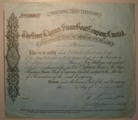 London Coins : A134 : Lot 53 : Great Britain, River Thames Steam Boat Company Ltd. Certificate for Preference shares 1884, ...