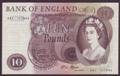 London Coins : A134 : Lot 596 : Ten pounds Fforde B316 issued 1967 very first run A41 717444 GEF