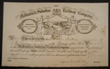 London Coins : A134 : Lot 6 : Australia, Melbourne & Suburban Railway Co., certificate for one share, 1859, vi...