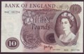 London Coins : A134 : Lot 653 : Ten pounds Page B327 issued 1971 replacement M06 391736 about EF